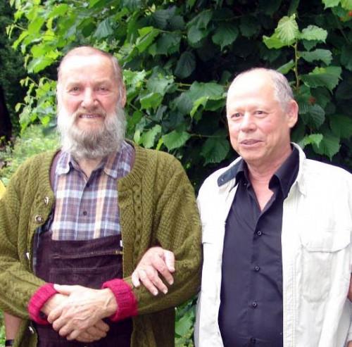 Prof. Eshel Ben Jacob - à gauche (†2015) en visite chez Johann Grander (†2012) à Jochberg au Tyrole.
