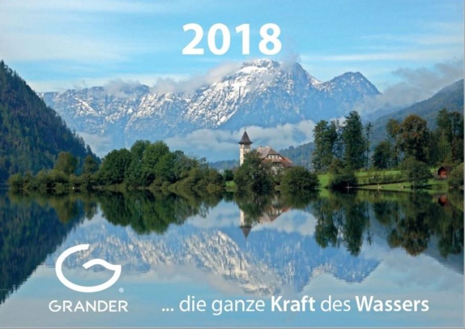 Gewinnen Sie einen von 100 GRANDER®-Wasserkalendern 2018!