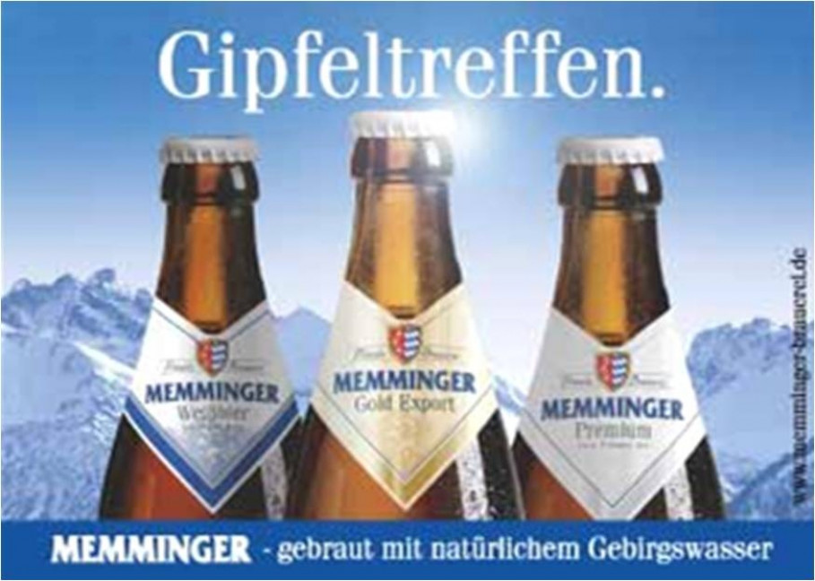 Memminger Beer - noble drop