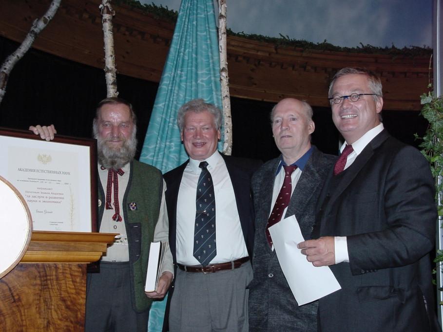 Johann Granders Ehrungen und Auszeichnungen
