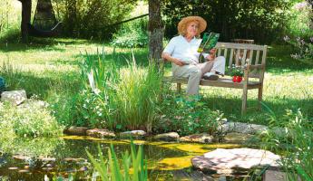 Teich- und Gartenarbeit mit GRANDER®