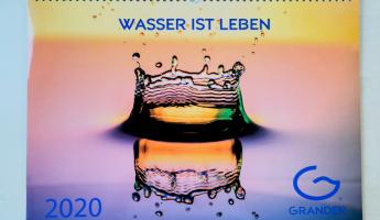 Win A GRANDER® Water Calendar for 2020